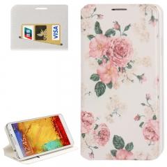 Чехол книжка для Galaxy Note 3 Цветочки
