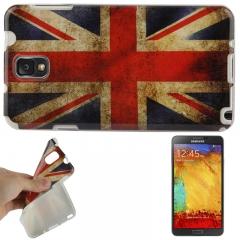 Чехол силиконовый для Galaxy Note 3 Британский флаг
