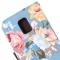 Чехол книжка Цветочки для Samsung Galaxy S5 Mini голубой
