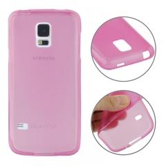 Чехол силиконовый для Samsung Galaxy S5 Mini розовый