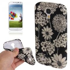 Чехол Цветочки для Samsung Galaxy S4 черный