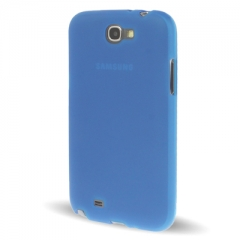 Чехол силиконовый для Samsung Galaxy Note 2 синий