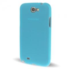 Чехол силиконовый для Samsung Galaxy Note 2 голубой
