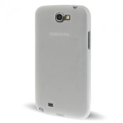 Чехол силиконовый для Samsung Galaxy Note 2 прозрачный