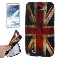 Силиконовый чехол для Samsung Galaxy Note 2 Британский флаг