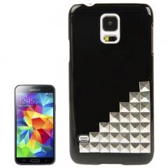 Чехол для Samsung Galaxy S5 серный с клепками