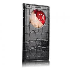 Чехол книжка для LG G3 черный крокодил