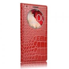 Чехол книжка для LG G3 красный крокодил