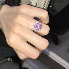 Кольцо Tiffany&Co с круглым камнем