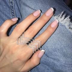 Колечко серебряное зигзаг