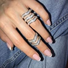 Кольцо Repossi с цирконами