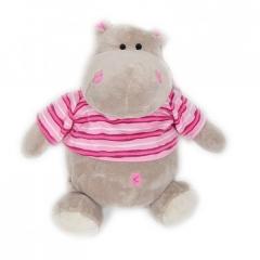 Бегемотик Жорик 30см в розовый кофточке