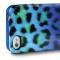 Чехол силиконовый Just Cavalli для iPhone 5 Леопард синий