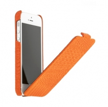 Чехол книжка Borofone для iPhone 5 оранжевый