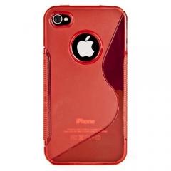 Силиконовый чехол для iPhone 4S красный