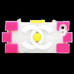 Чехол CHANEL Lego для iPhone 5S розовый