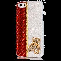 Чехол Мишка для iPhone 4S со стразами