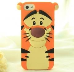 Чехол силиконовый Тигра для iPhone 5s