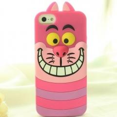 Чехол силиконовый Чеширский кот для iPhone 5S
