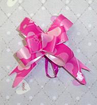 Бантик розовый с сердечками