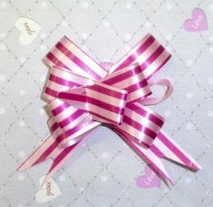 Бантик в полосочку розовый