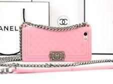 Чехол Chanel Boy для iPhone 4 розовый