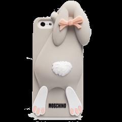 Чехол Moschino кролик для iPhone 5 серый