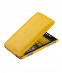 Чехол книжка для Nokia Lumia 925 желтый