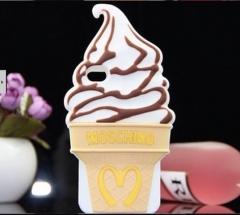 Чехол Moschino Мороженое для iPhone 4S коричневый
