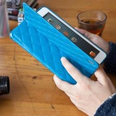 Чехол JisonCase Quilted для iPad Mini голубой