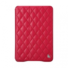 Чехол JisonCase Quilted для iPad Mini розовый