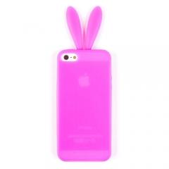 Чехол с ушами для iPhone 5S розовый