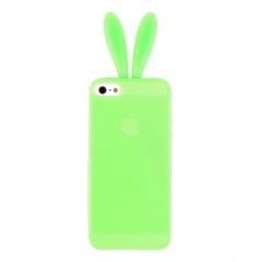 Чехол Уши для iPhone 5S салатовый