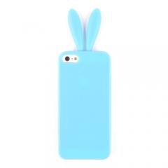 Чехол Уши для iPhone 5 голубой