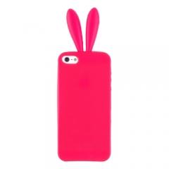 Чехол Уши для iPhone 5 красный