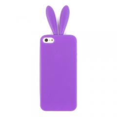 Чехол Уши для iPhone 5 фиолетовый