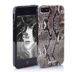 Чехол Just Cavalli для iPhone 5 питон серый