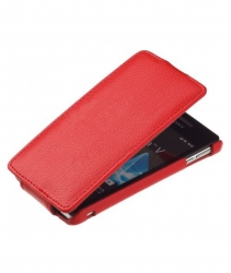 Чехол книжка для HTC One красный