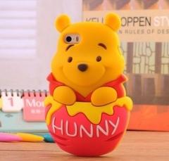 Чехол Винни Пух для iPhone 5S розовый